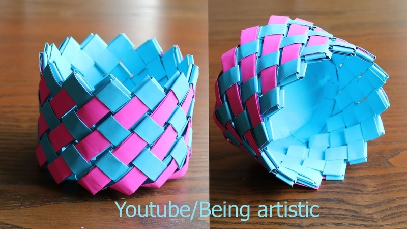 Easy Way To Make Paper Basket - Paper Craft - Home Decor
