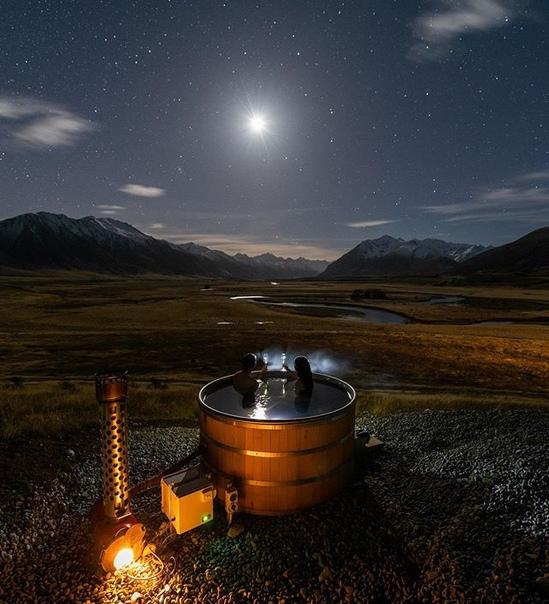Ночная идиллия в долине Ахурири, Новая Зеландия