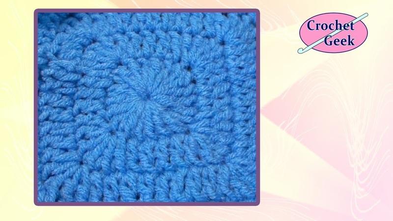 How to make Crochet Square Chainless Tutorial CrochetGeek