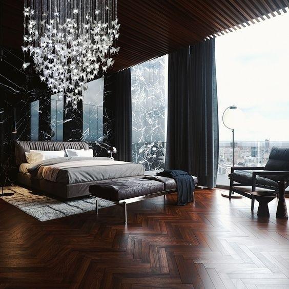 Спальни в «чёрном»