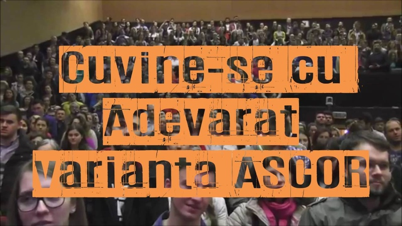 Cuvine se cu Adevarat Varianta ASCOR Cluj