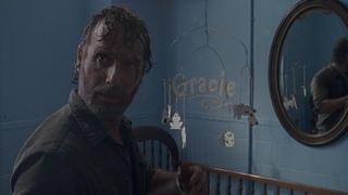 Рик находит Грэйси - дочь убитого Спасителя / Спасители убивают Фрэнсин / Спасители ранили Эрика