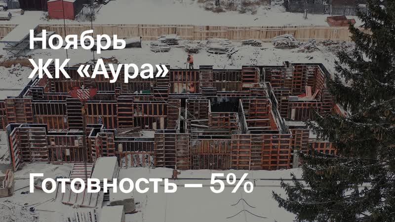 Динамика строительства ЖК Аура ноябрь 2020