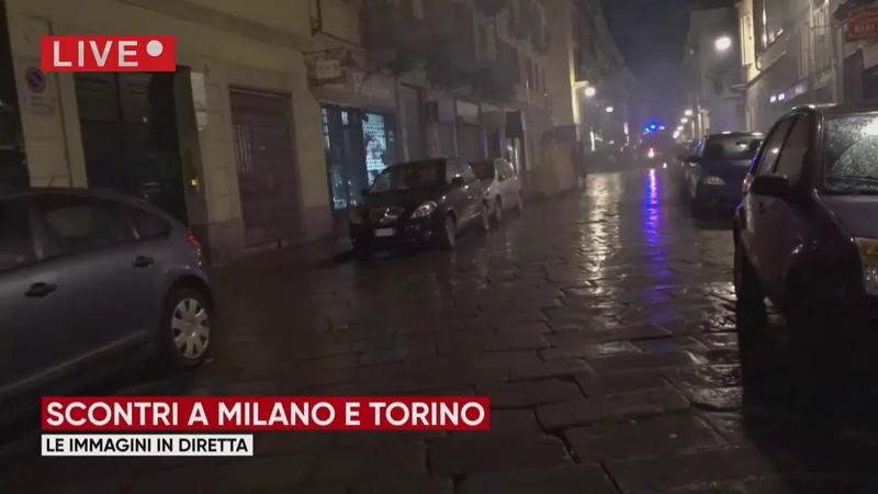 Chiusure anti covid proteste e scontri in piazza a Roma Milano e Napoli