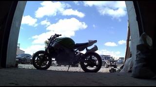 Взять убитый мотоцикл и сделать алюминиевый стрит.
