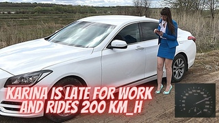 🔥 KARINA IS LATE FOR WORK AND RIDES 200 KM H 🔥 FAST DRIVING _ PEDAL PUMPING _ REVVING _ BARE FOOT
