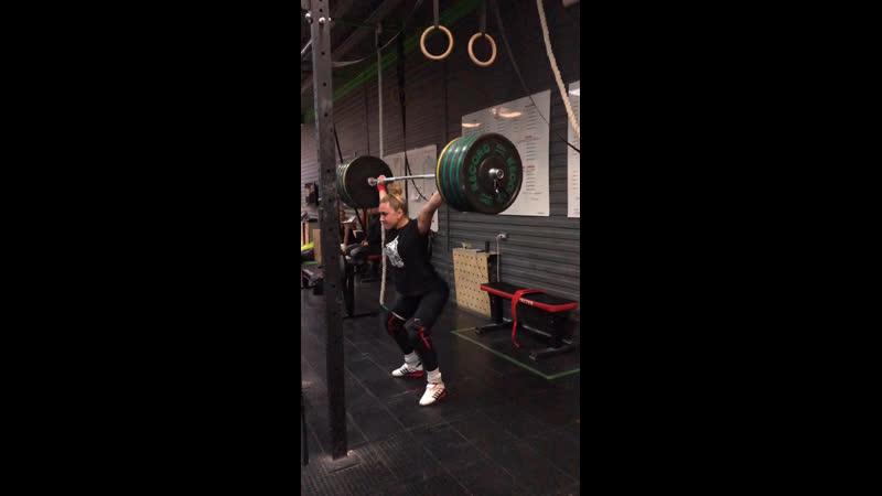 105kg Pressing Snatch Balance Анастасия Бегунова