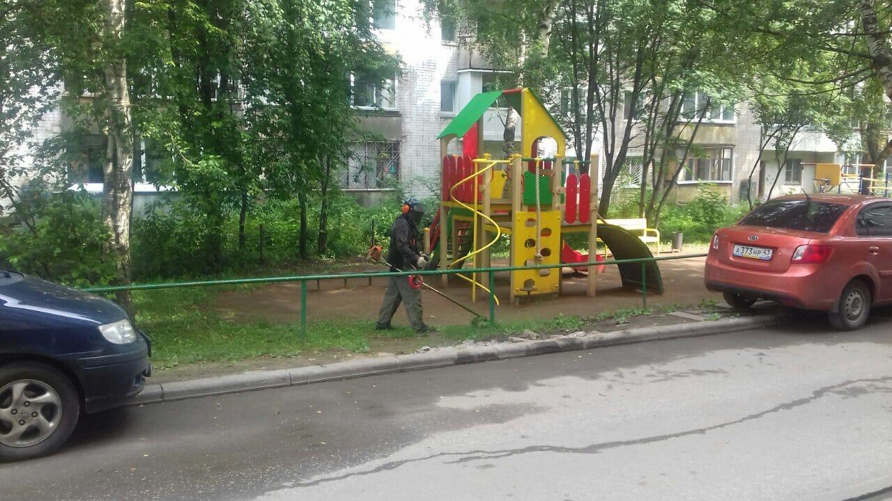 Ул. Московская, 173. Кошение газонов.