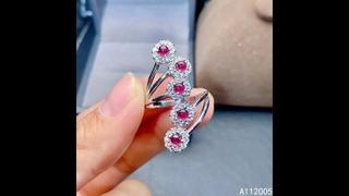 Kjjeaxcmy, изящные ювелирные изделия, имитация серебра, натуральный регулируемый рубин, новинка, женское кольцо, классическая