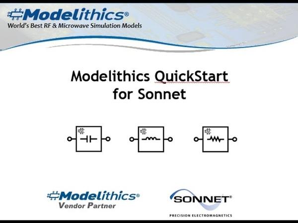 Modelithics Library for Sonnet QuickStart
