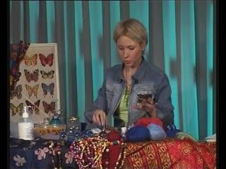 Делаем подарки_ мохеровые бусы и цветочный букет из конфет. Мастер класс  Миасс