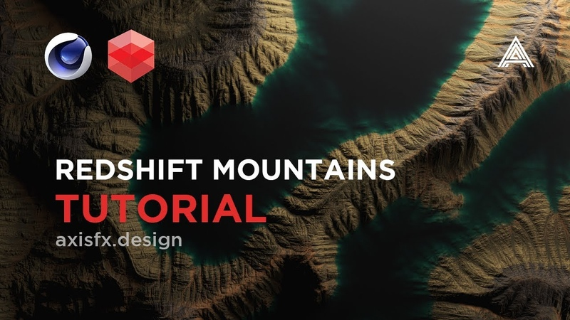 Mountain Displacements and Subsurface Water Tutorial in Redshift for Cinema 4D