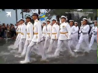 Моряки России vs Моряки США!!! Выступление на параде!!! #Тайланд