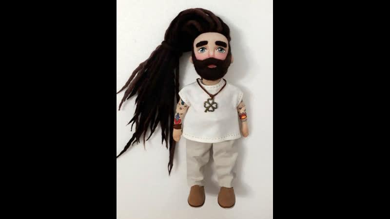 Куклы бородачи с дредами и татуировками от Елены Че Кофемэн