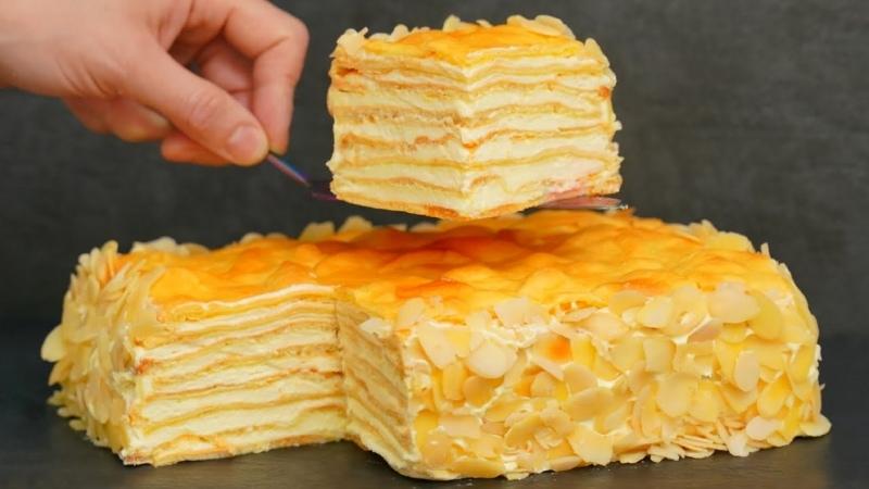 Вкуснейший домашний ТОРТ Пломбир Для всех любителей торта Наполеон и Карпатка