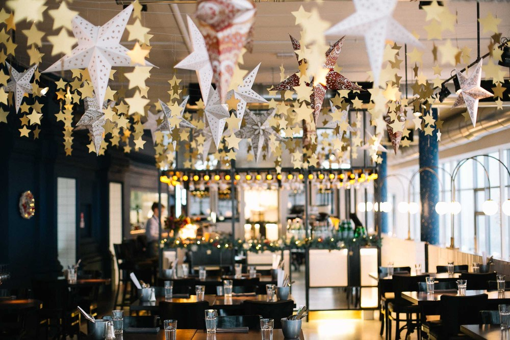 Новогоднее оформление ресторана, кафе