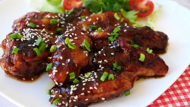 Куриные Крылышки в соусе Терияки Съедаются как семечки - сложно оторваться! ¦ Teriyaki Chicken Wings