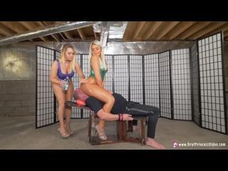 Natalya & Ava - Shiny Suits And Shiny Asses Face Sit [Femdom, Blonde, Humiliation, Brat Girls, Bikini, Face Sitting, Oil]