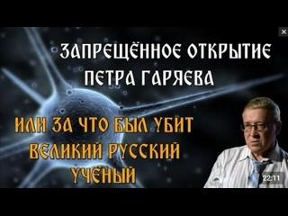 ЗАПРЕЩЁННОЕ ОТКРЫТИЕ ПЕТРА ГАРЯЕВА ИЛИ ЗА ЧТО БЫЛ УБИТ ВЕЛИКИЙ РУССКИЙ УЧЁНЫЙ