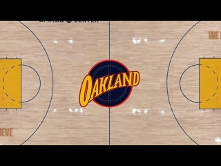 Golden State Warriors unveil 2020-21 Oakland Forever court (720p)