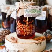 Варенье из сосновой шишки (цельной) с кедровым орехом, 350 мл (420 г)