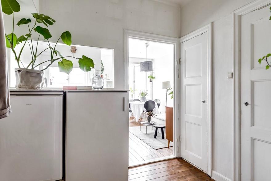 Небольшая скандинавская квартира-студия 27 м.