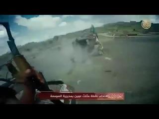 18+ Йемен. Нападение боевиков АКАП на импровизированый БП хуситов.