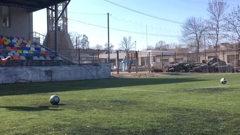 Гол с углового Руслана Храпунова в ворота ФК Олимп