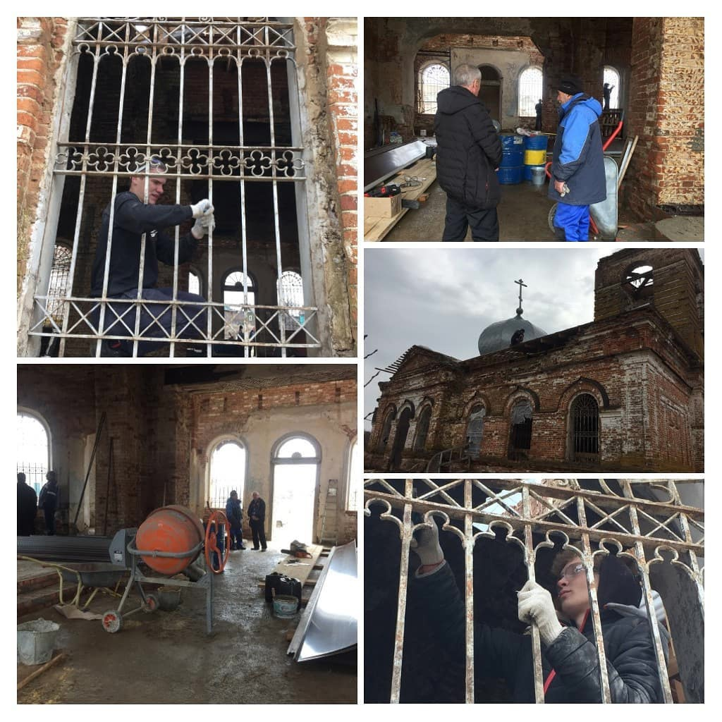 В храме Всех Святых села Таволожка Петровского благочиния продолжаются внутренние и внешние ремонтно-восстановительные работы