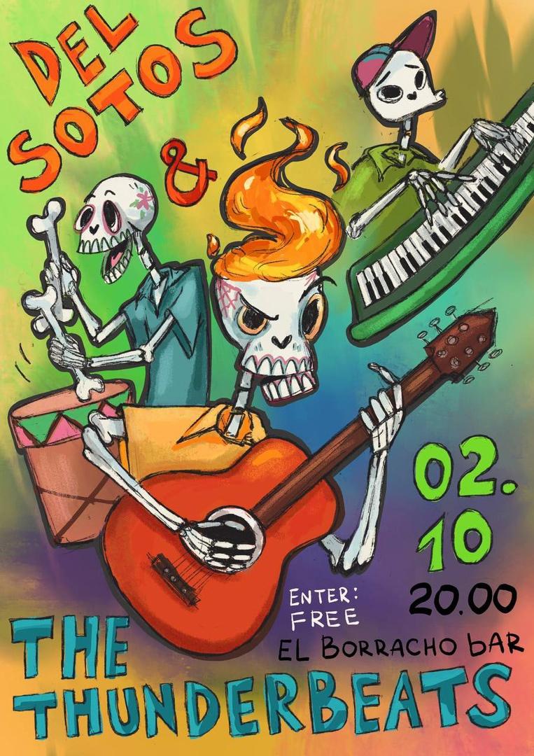 02.10 Del Sotos и The Thunderbeats в баре El Borracho!
