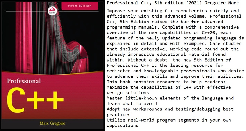 Professional C++, 5th edition [2021] Gregoire Marc