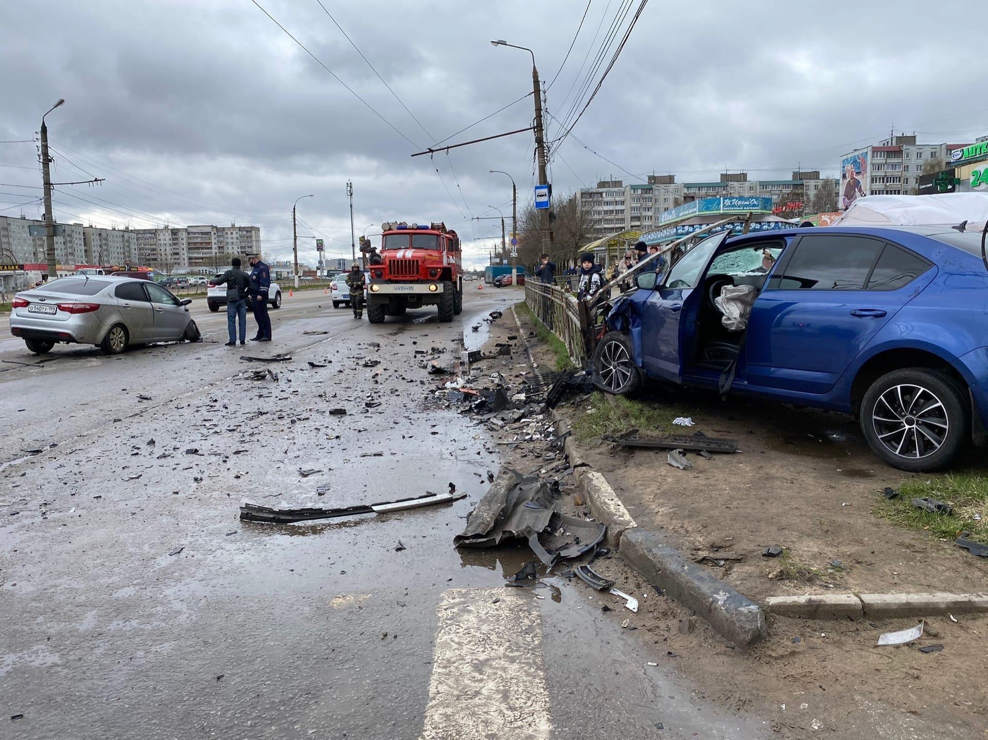 ДТП на улице Можайского произошло в Твери