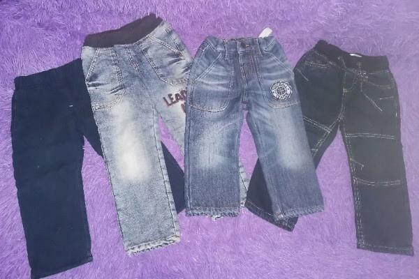 Продам: утеплённые джинсы: р. 12-18(86 см), 18-24(...