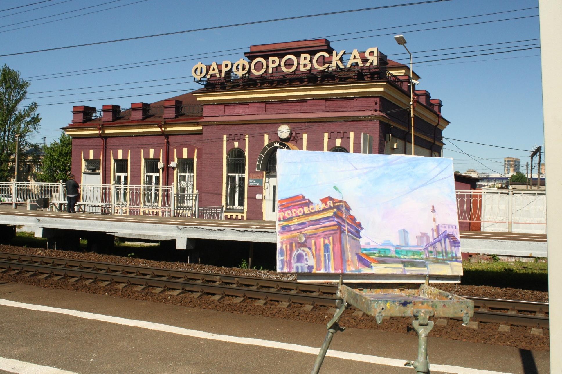 Художники написали Фарфоровский мост