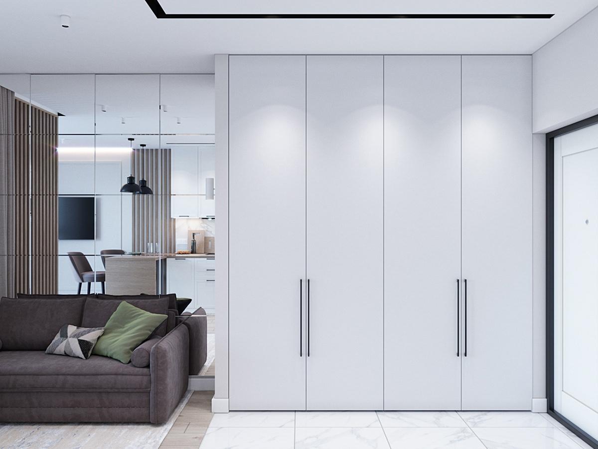 Проект квартиры-студии 34 кв.