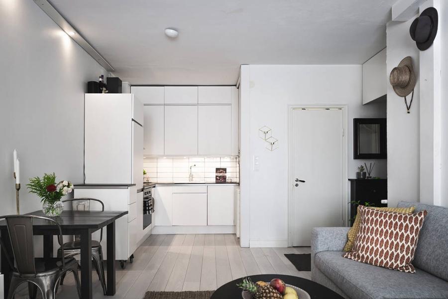 Обстановка шведской квартиры-студии 32 кв.