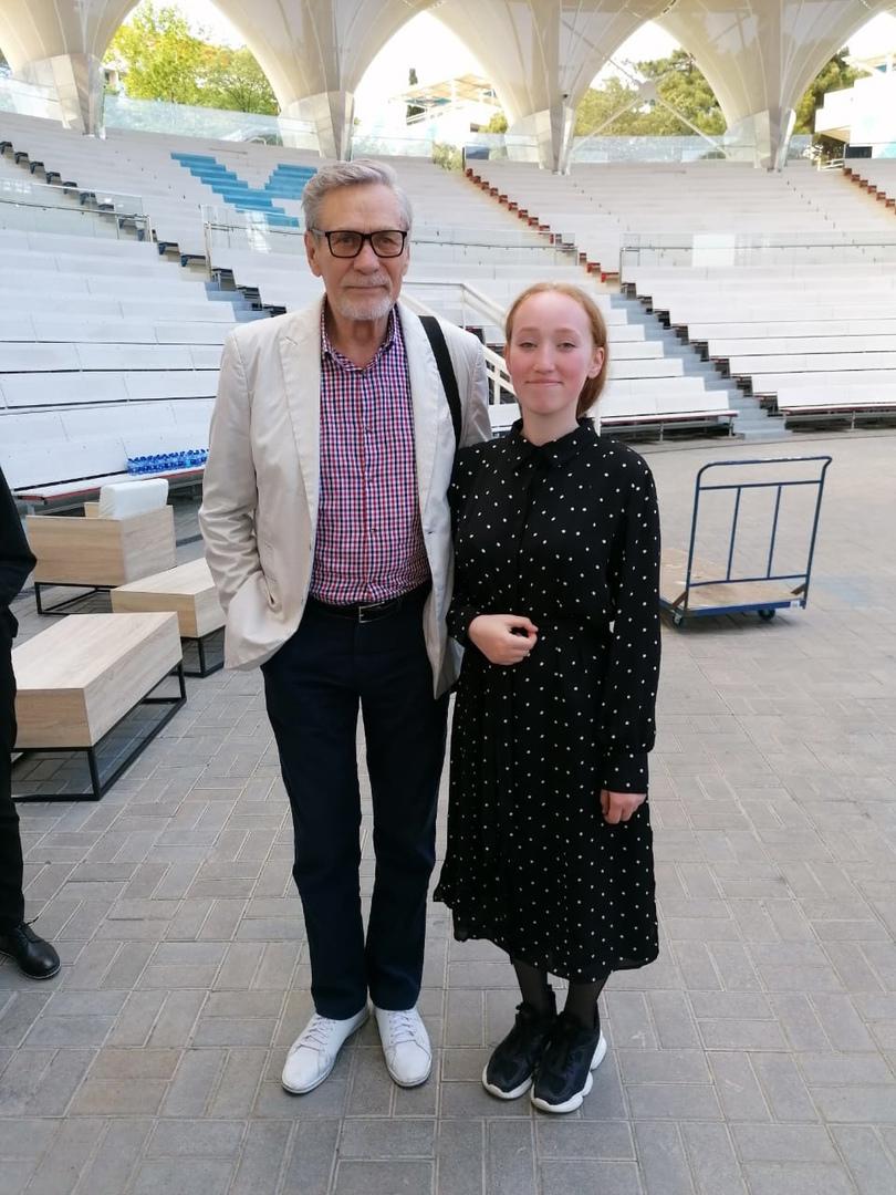 Народный артист РСФСР Александр Михайлов и Анита Чувакова.