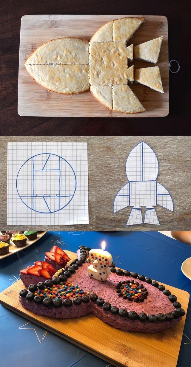Как сделать торт в виде ракеты из коржей - фото сборки торта