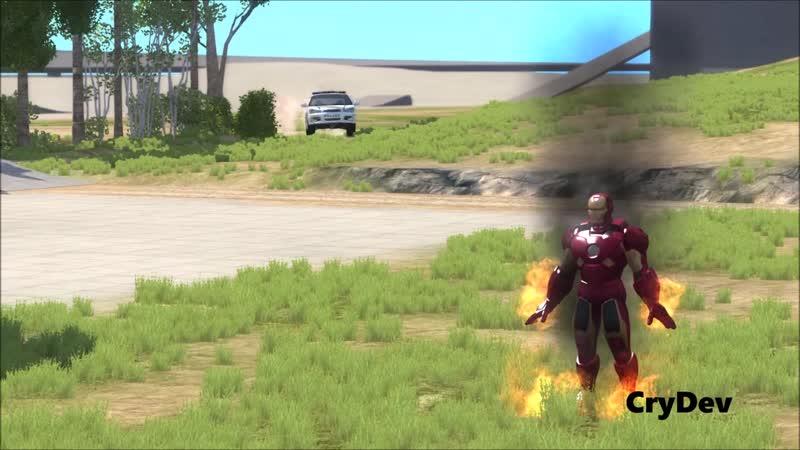 BeamNG Mod IRON MAN BETA FlyCrash Testing HD
