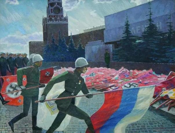 Картина написанная неизвестным художником в 1960-х годах имеет анахронизм: знамя РОА и флаг Союза Русских Фашистов. Второй мог быть добыт только в боях за Манчжурию с 8 августа по 2 сентября