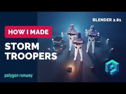 Stormtroopers in Blender 2 8 Low Poly 3D Modeling Timelapse Tutorial