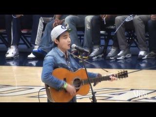 [FANCAM] 131025 Roy Kim - Volcano @ Georgetown basketball tip-off celebration
