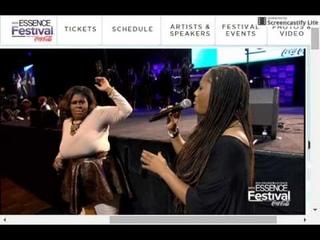 Lalah Hathaway mic toss Kim Burrell