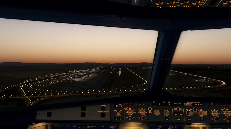 Sunset landing in Tehran Imam Khomeini International Airport (OIIE), Airbus A320 Iran Air