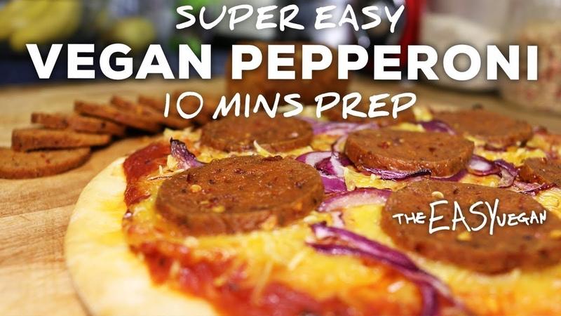 This Vegan Pepperoni tastes SOO Real 10 min prep