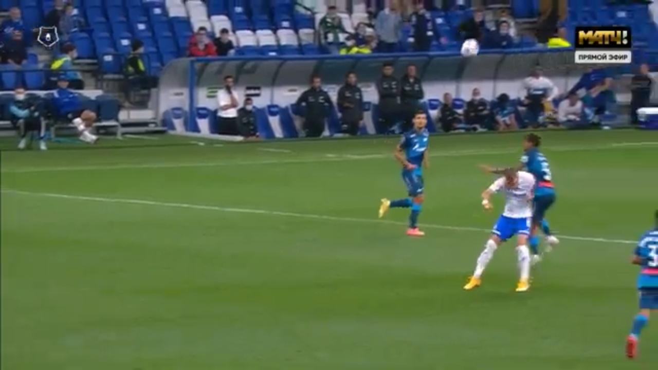 Динамо - Зенит, 1:0. Удаление Барриоса
