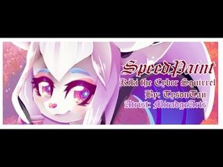 [Speedpaint] Kiki the Cyber Squirrel (The maskot of Krita)