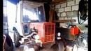 Трактор с дизелем Mercedes мелкий ремонт. Homemade tractor