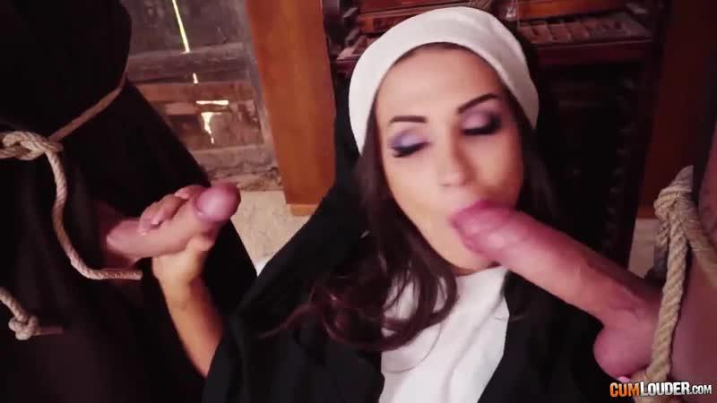 Cumlouder Susy Gala nun love fucked two man (porno, uniform, sex, cumshot, blowjob, couples, oral, tits,