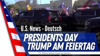 """Donald Trump wurde letzten Montag am U.S. amerikanischen Feiertag in  """"Mar-A-Lago"""" gefeiert"""